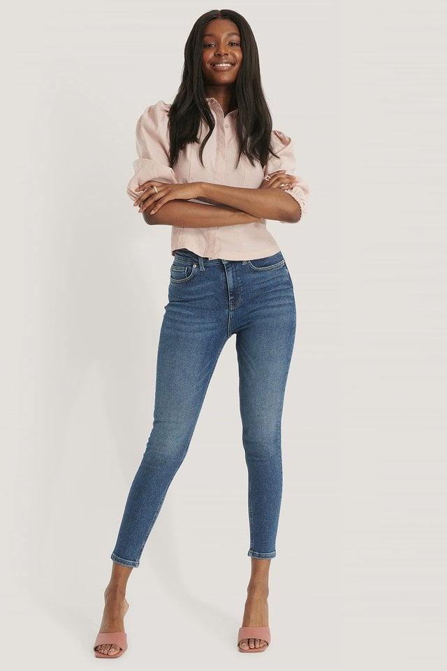 Powerstretch Skinny High Waist Jeans.