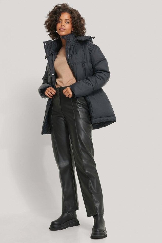 Belted Padded Jacket.