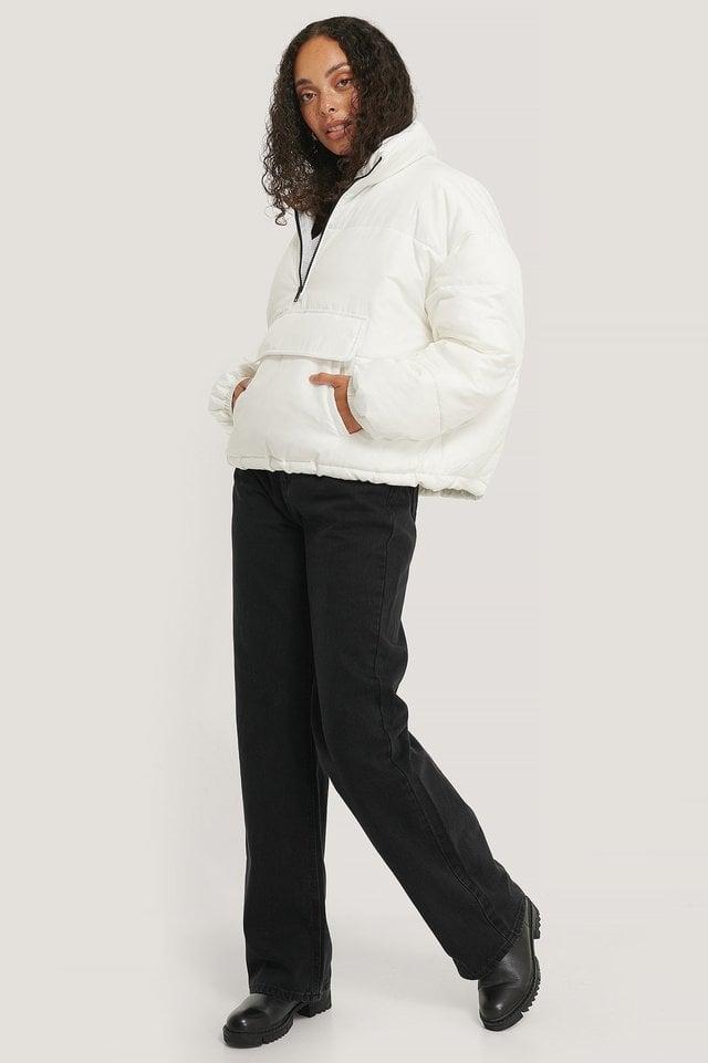 Anorak Padded Jacket White.