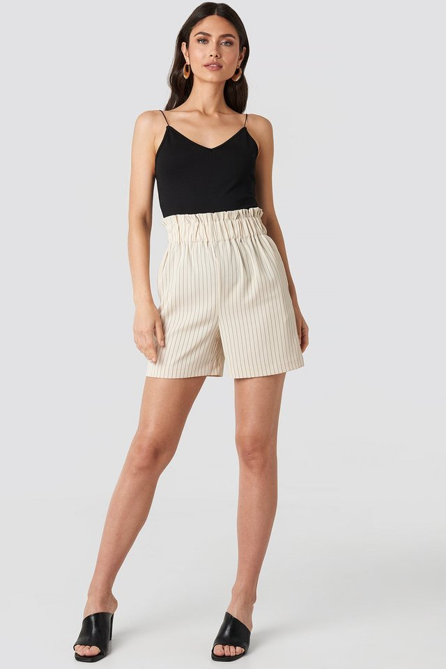 Gathered Shorts Outfit.