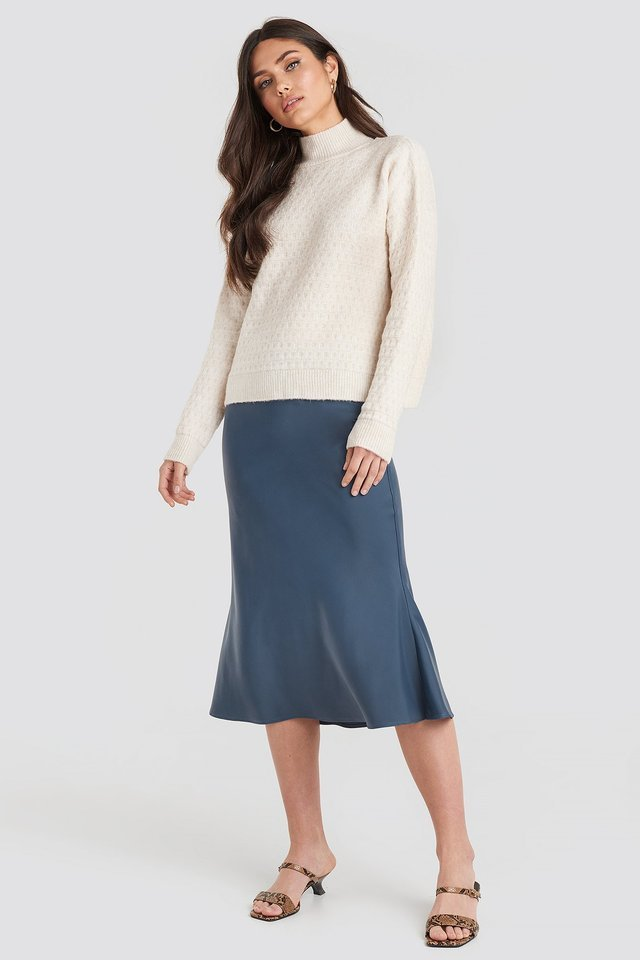 Vertical Polo Light Sweater Outfit.