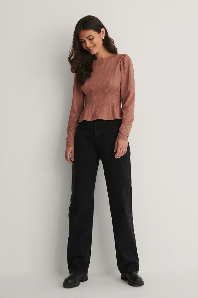 Cinched Waist Detail Top Outfit.