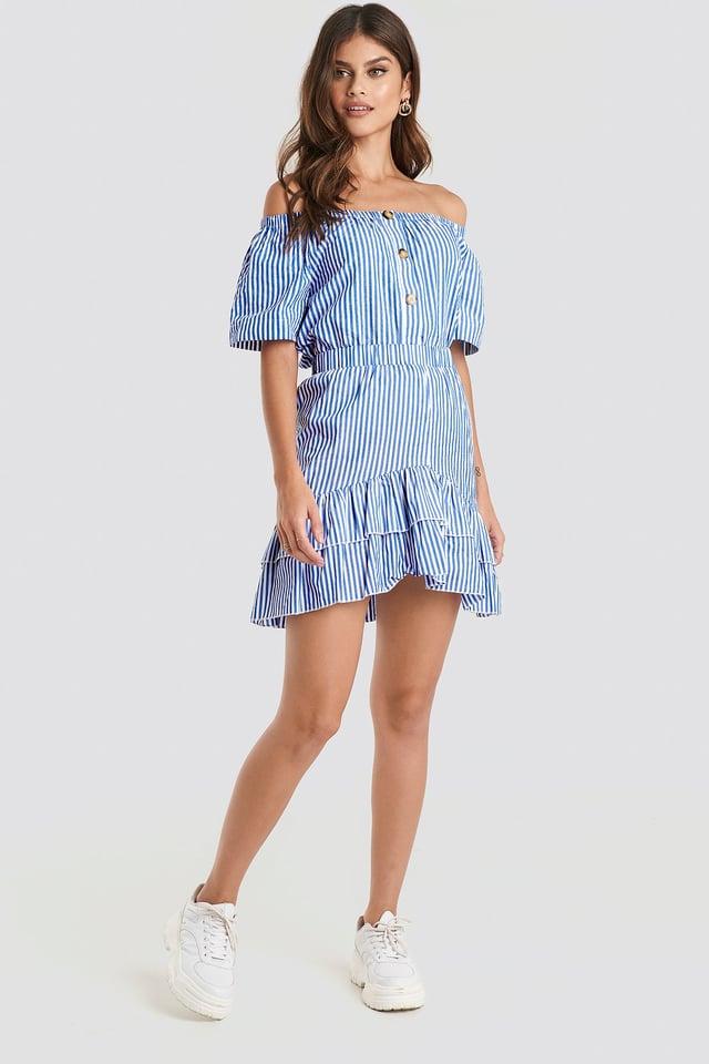 White/Blue Erub Skirt