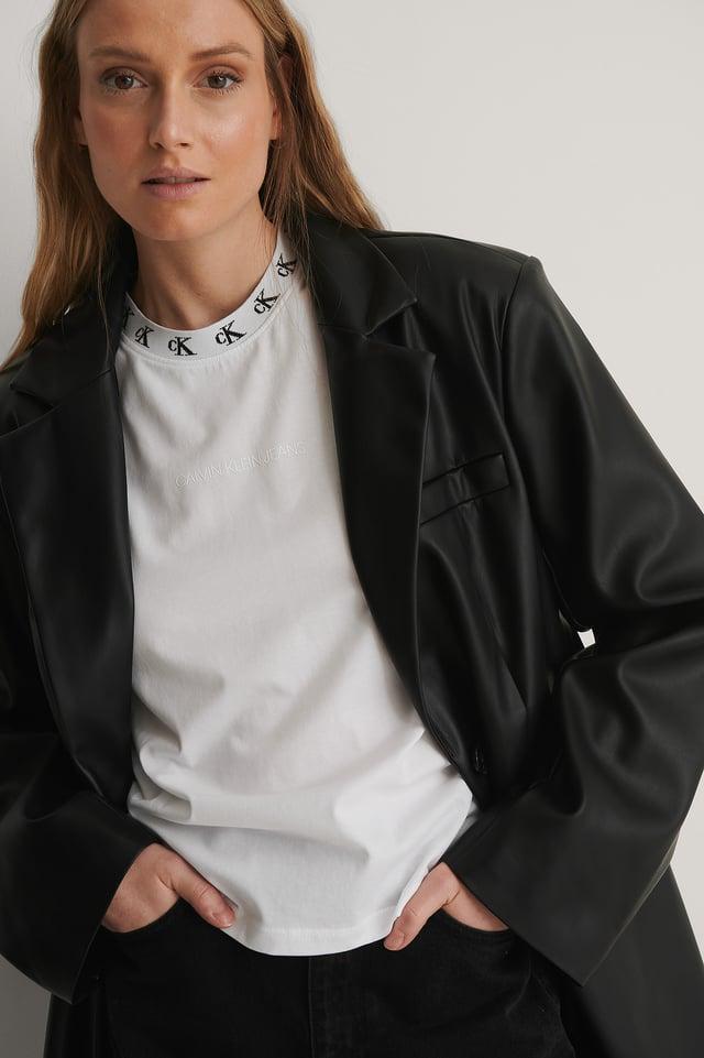 Calvin Klein Logo Long Sleeve T-shirt Outfit.