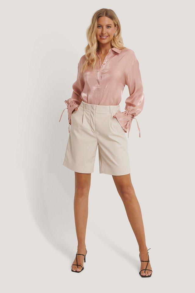 Tie Sleeve Shirt Outfit.