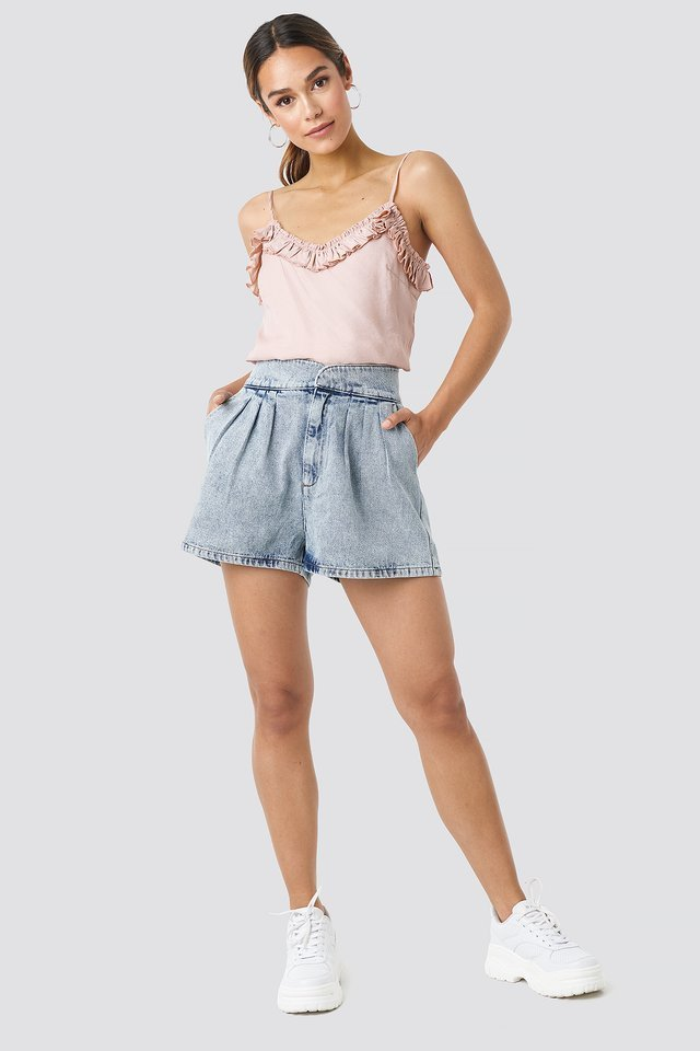 Western Denim Shorts Outfit.