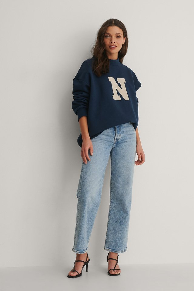 NA-KD High Neck Sweater Outfit.