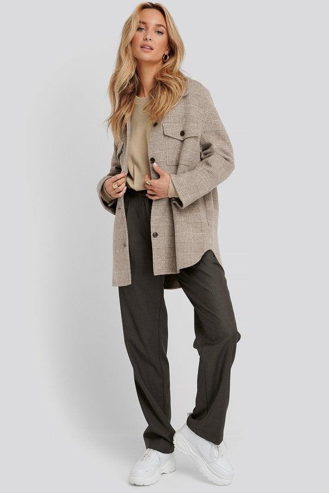 Cinched Waist Sweatshirt Bodysuit Outfit.