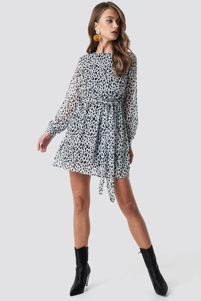 Dalmation Spots Print Dress Outfit.