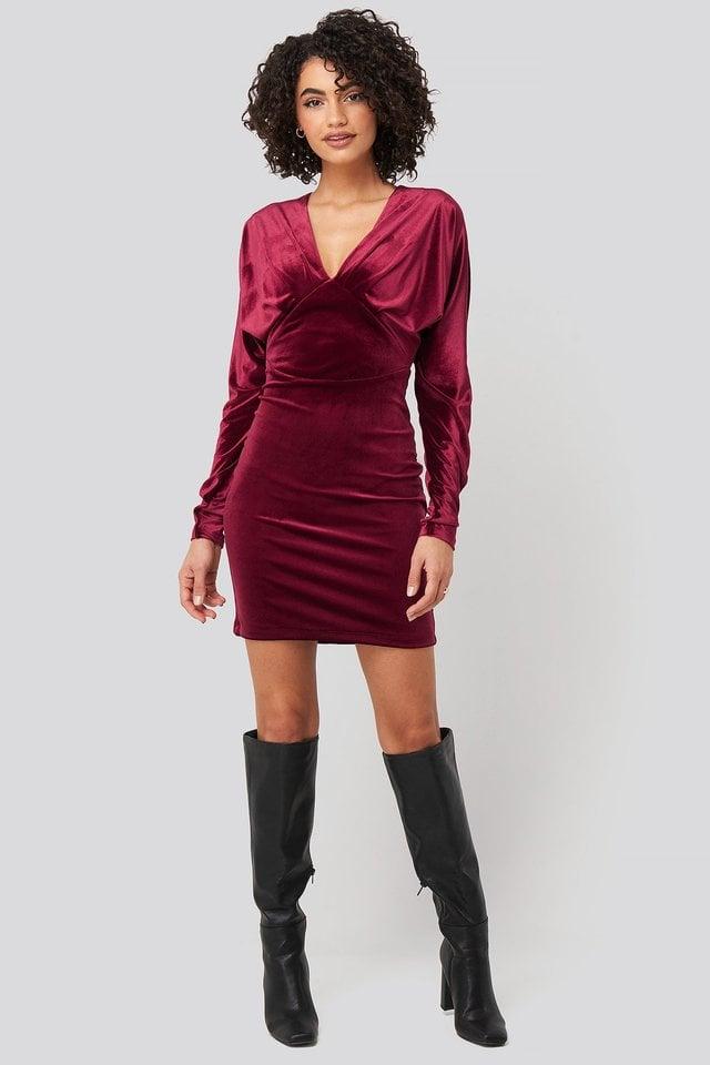 Low-Cut Neckline Mini Dress Outfit.