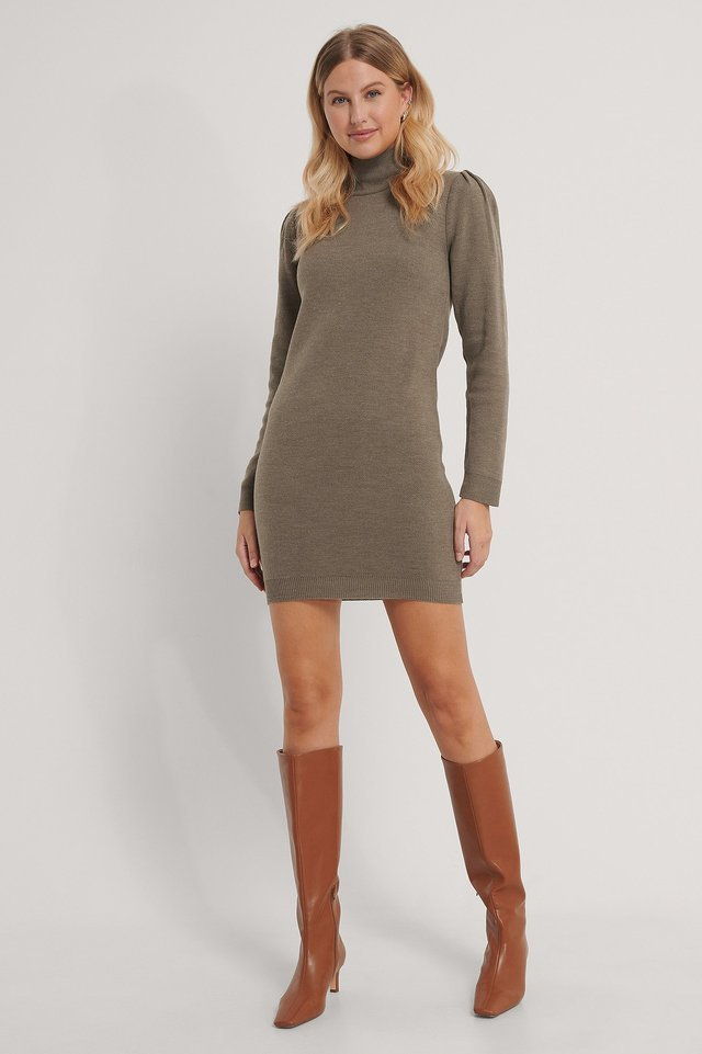Milla Knit Dress Outfit.