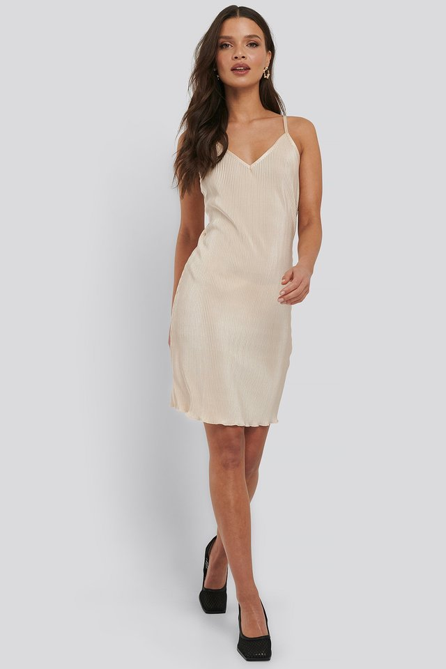 Pleated Slip Dress Outfit.