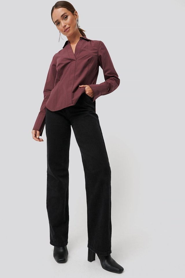 Contrast Stitch Shirt Outfit.