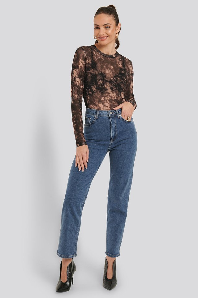 Nella Mesh Top Outfit.