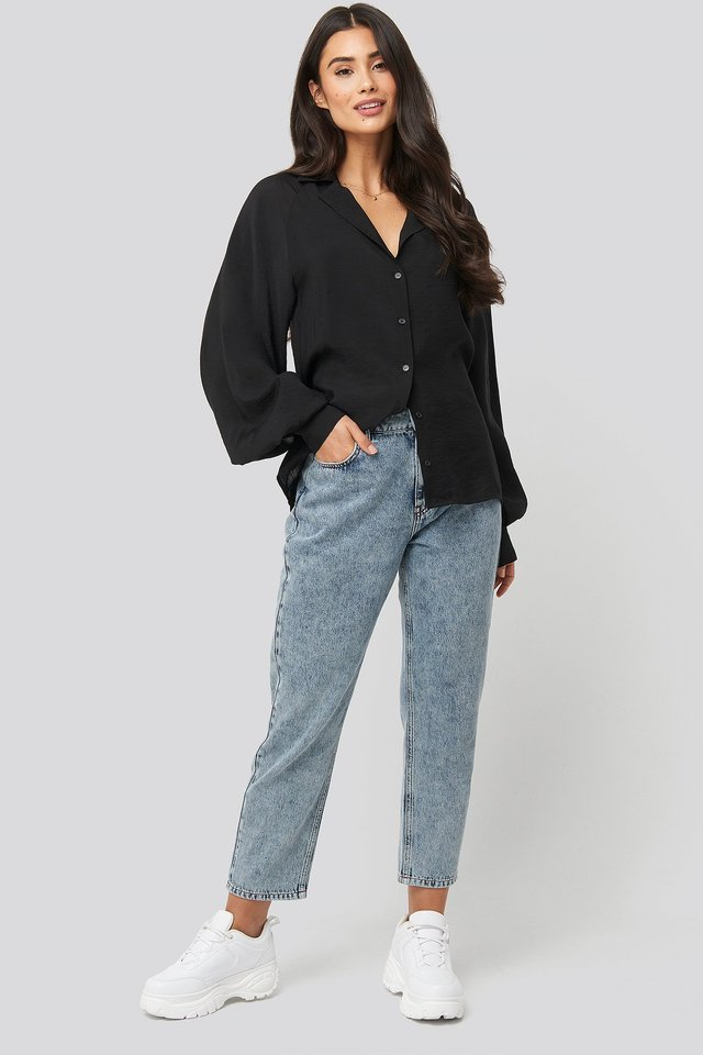 Puff Sleeve Shirt Outfit.