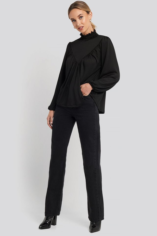 Guipure Knitted Blouse Outfit.