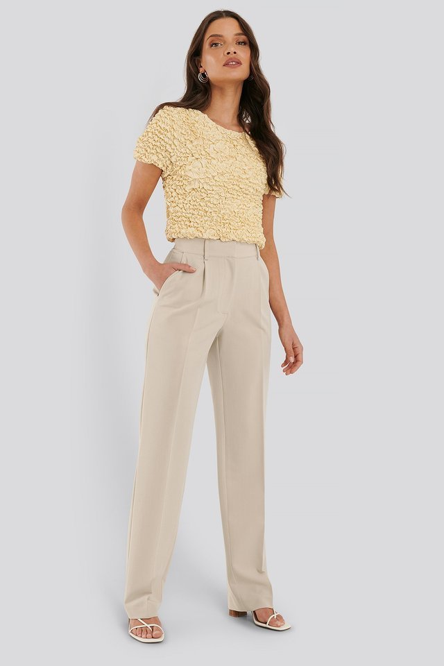 Shirred Cropped Top Outfit.