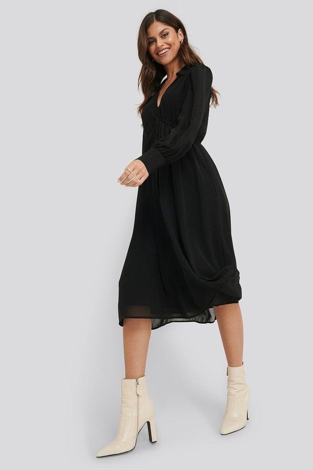 Sheer Midi Dress Outfit.