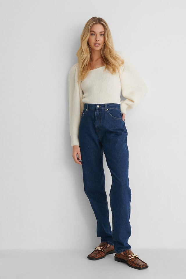Long Leg Slouchy Mom Jeans Outfit.