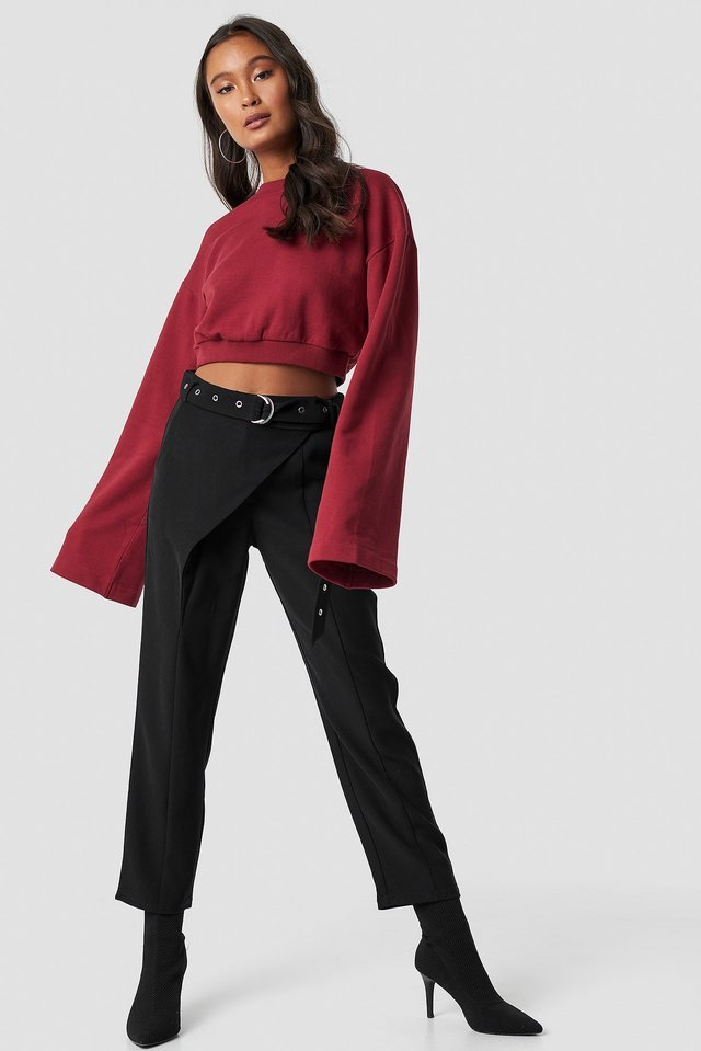 Front Overlap Pants Outfit.