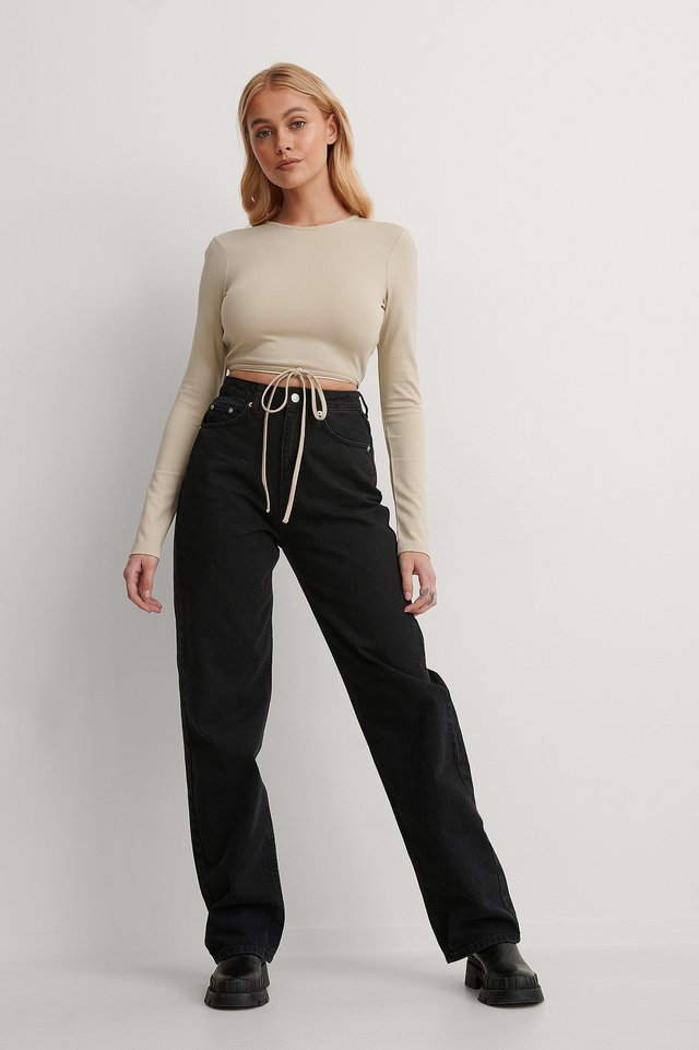 Twisted Wrap Detail Top Outfit.