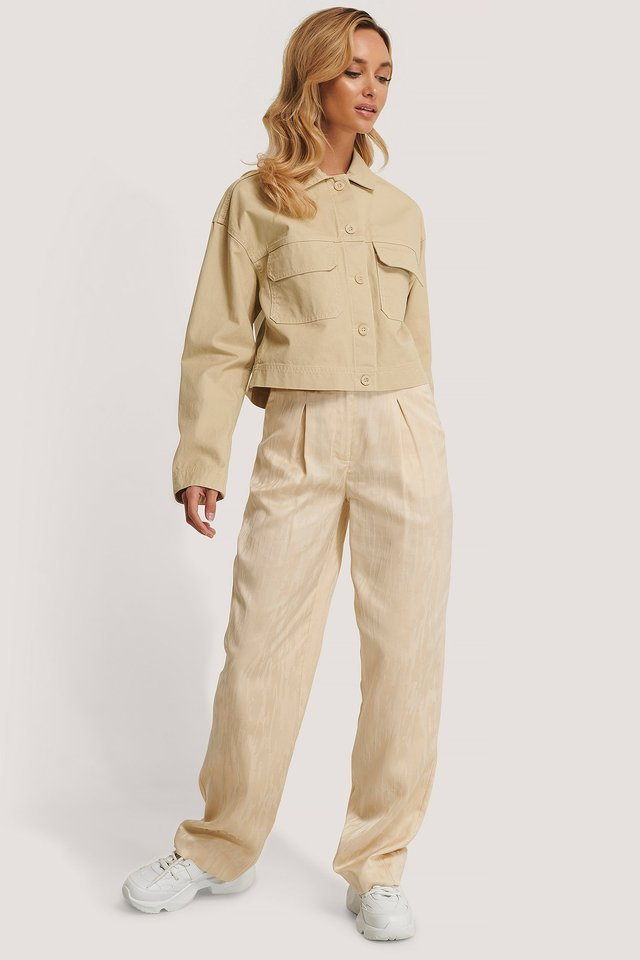 Nevada Worker Jacket Beige Outfit.