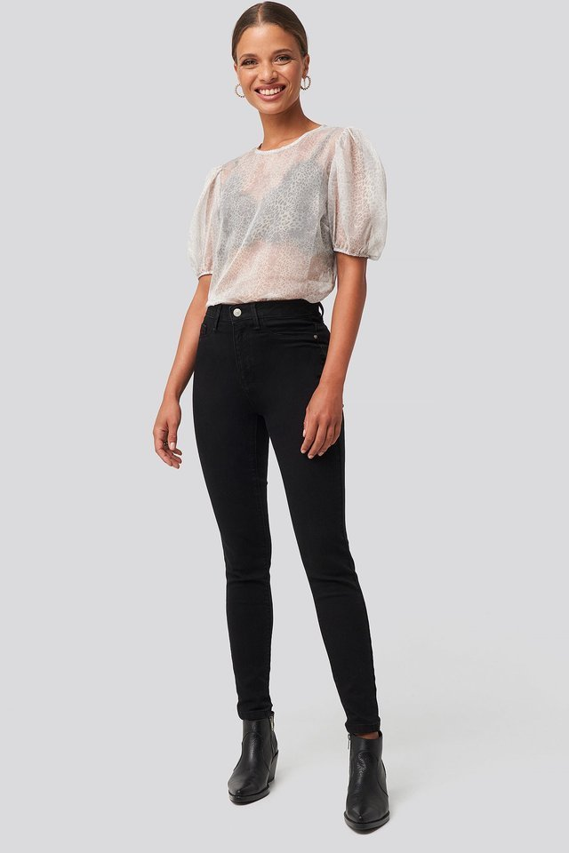 Yol High Waist Jeggings Black Outfit.
