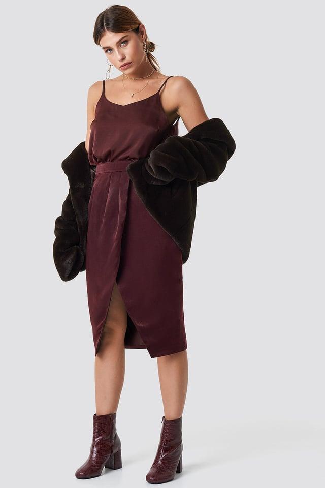 The Overlap Skirt Look