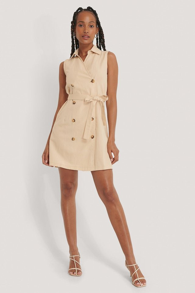 Belted Jacket Dress Outfit.