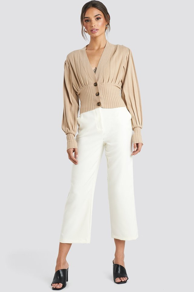 Short Ribbed Cardigan Outfit.