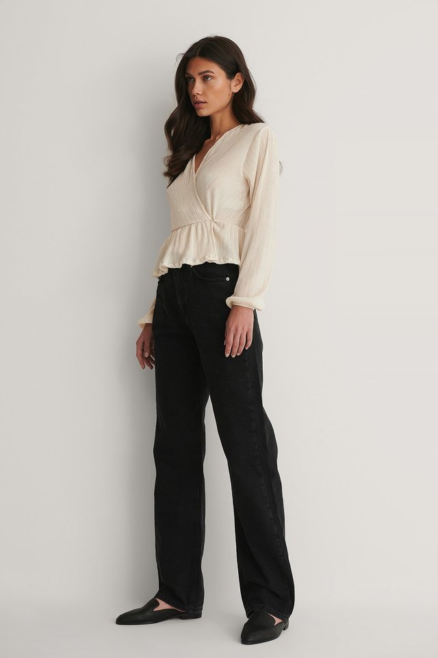 Pleated Wrap Top Outfit.