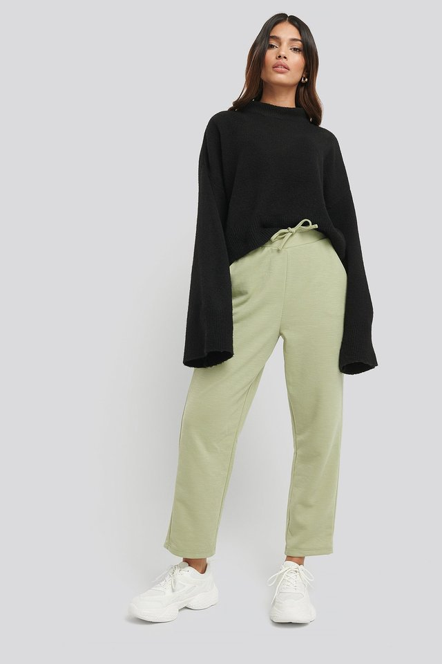 Basic Slip Pants Outfit.