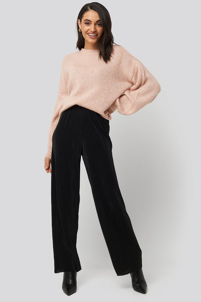 Wide Pleated Pants Outfit.