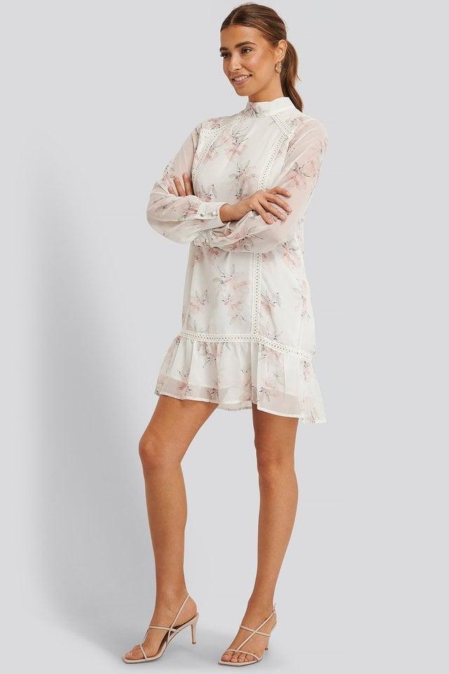 High Neck Crochet Dress Outfit.