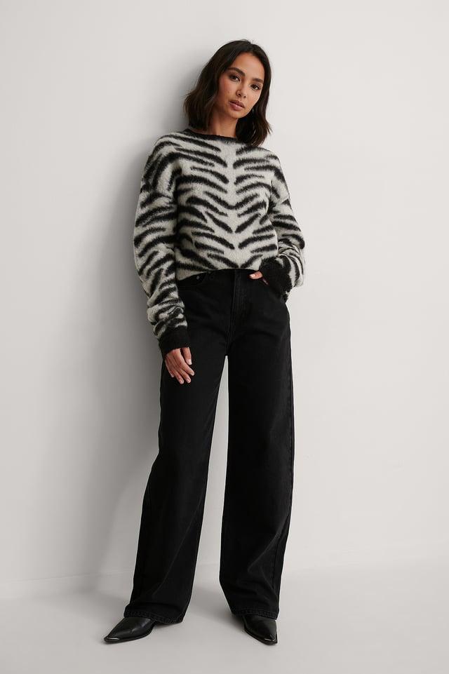 Zebra Knitted Sweater