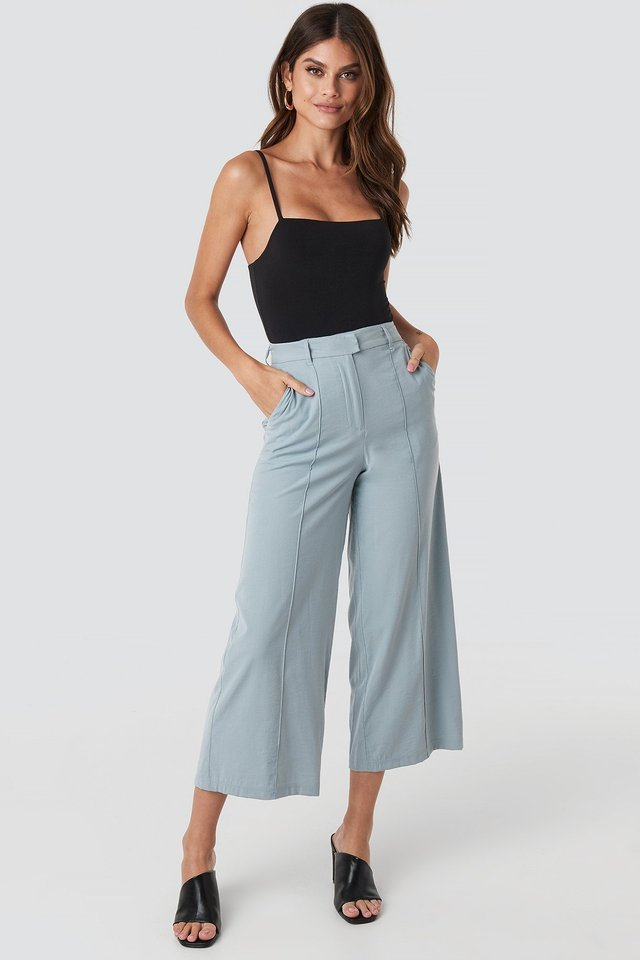Flowy Wide Pants Outfit.