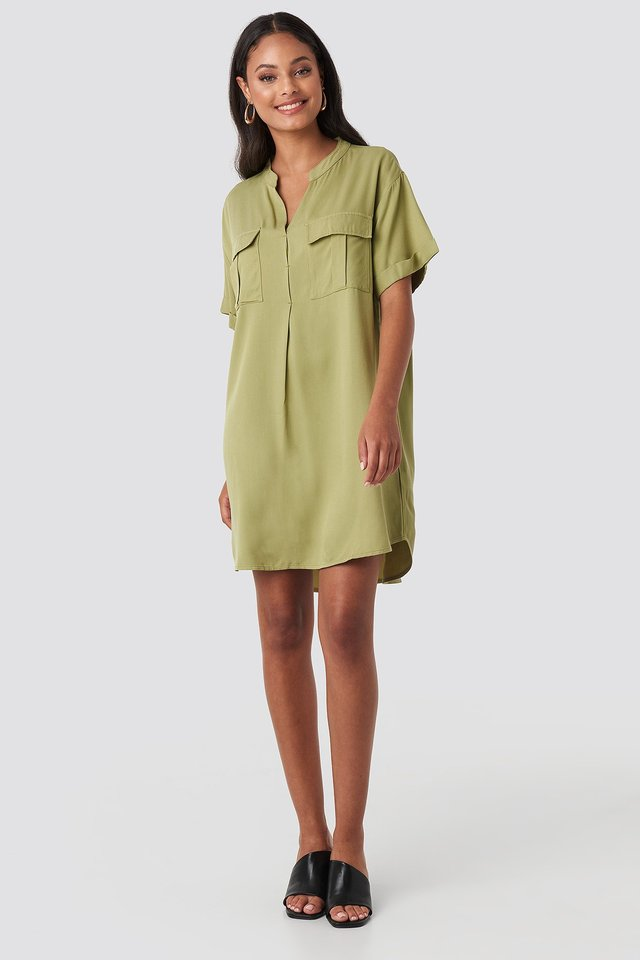 Oversized Cargo Tunic Dress Outfit.