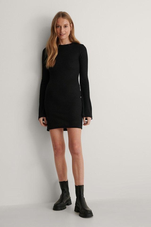 Black Recyclée Robe