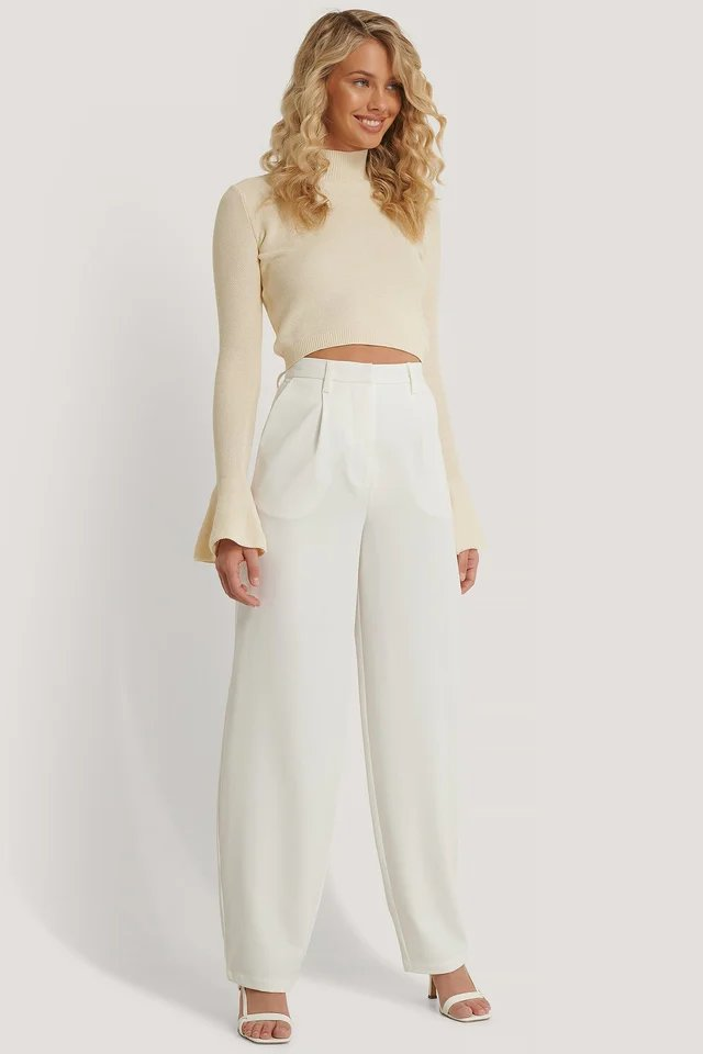 Flared Cuff Top Outfit.