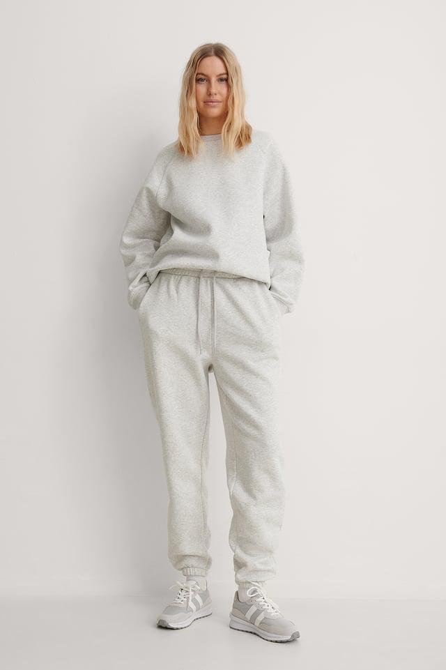 Organic Brushed Tapered Sweatpants