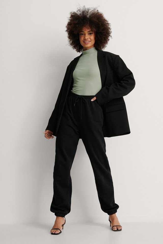 Recycled babylock high neck top