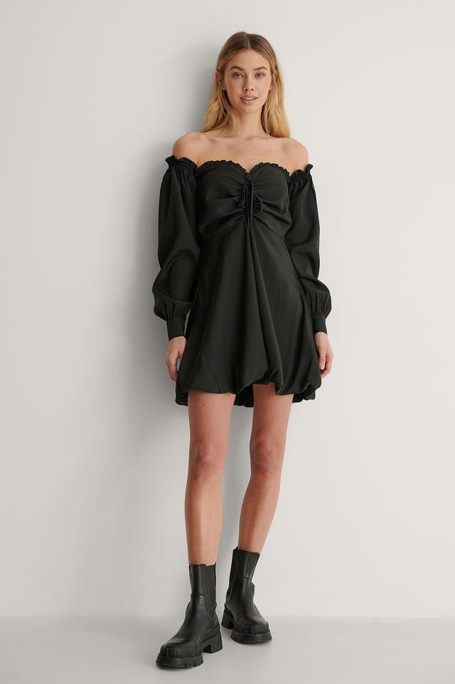 Off Shoulder Puff Dress