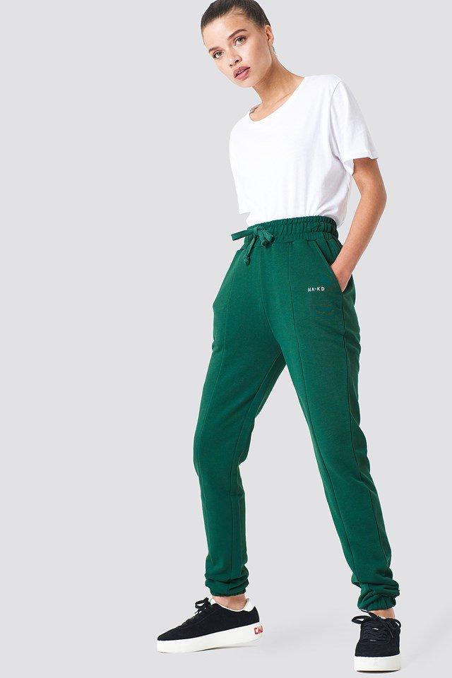 Grey Melange Pantalon De Survêtement Basique
