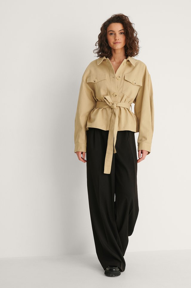 Twill Belted Jacket