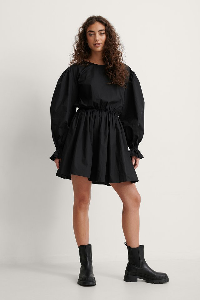 Melissa Volume Sleeve Dress Outfit.