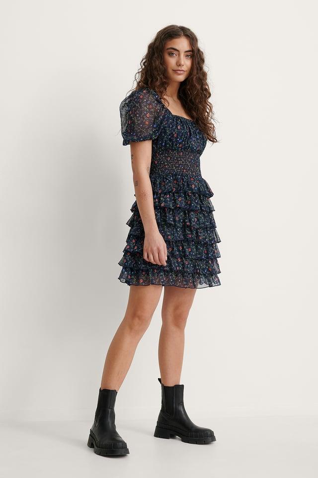Melissa Chiffon Frill Dress Outfit.