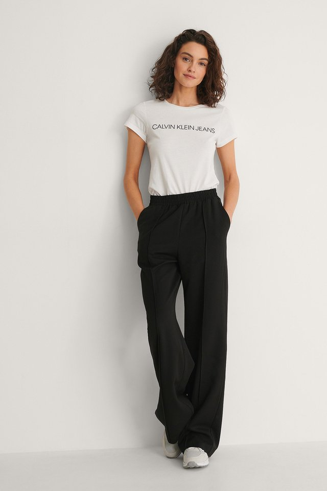 Core Institutional Logo Tee Outfit.