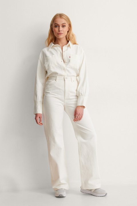 Zoey Pleat Utility Shirt Outfit.