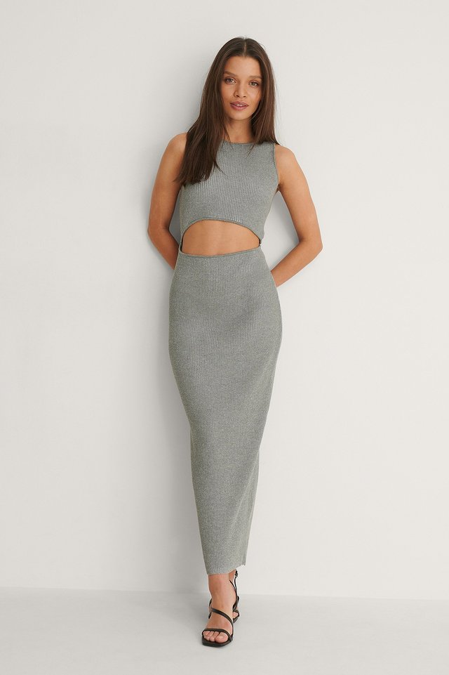 Cut Out Knitted Dress Outfit.