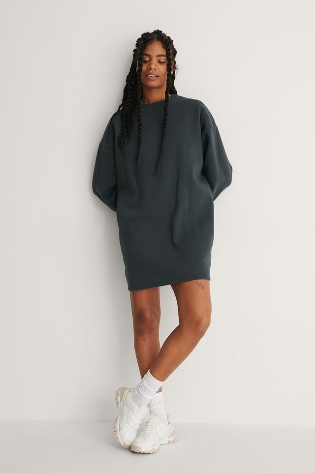 Organic Oversized Sweatshirt Dress Outfit.